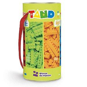 Blocos De Montar 200 Peças Coloridas Tand - Toyster + 5 Anos