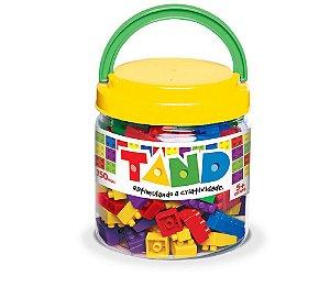 Blocos De Montar 150 Peças Coloridas Pote Tand Toyster