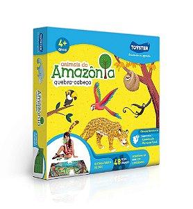 Quebra-Cabeça Grandão Animais da Amazônia 48pçs