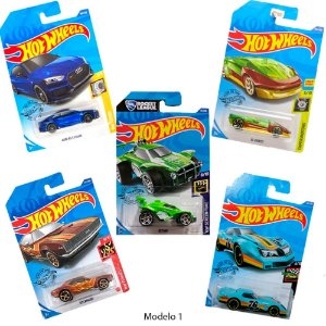Kit 5 Carrinhos Hot Wheels