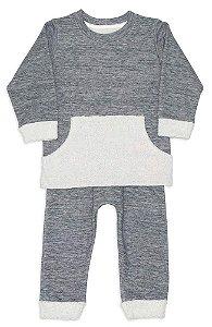 Dedeka Pijama Infantil Conjunto Fleece Double Face Passos