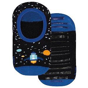 Meia Antiderr. Infantil Lupo Sapatilha Espacial Azul 24A29
