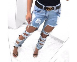Calça Jeans Rasgada Boyfriend