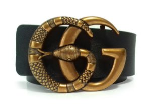 Cinto Gucci Marmont Double G Snake