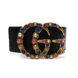 Cinto Gucci With Crystal Double G Com Strass