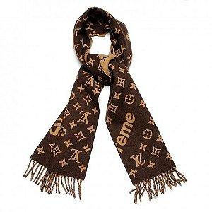Cachecol Louis Vuitton X Supreme Monogram Scarf