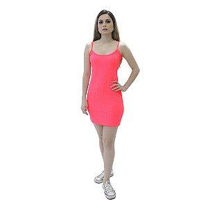 Vestido Neon Canelado