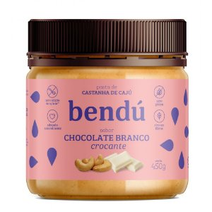 Pasta de Castanha de Caju Chocolate branco (450g) - Bendú