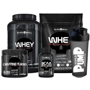 Kit 2 Whey Black Skull - Black Skull