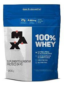 100% Whey (900g) REFIL - Max Titanium