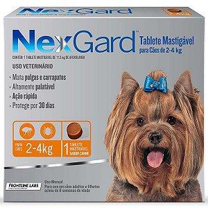 Antipulgas e Carrapatos Merial NexGard 11,3 mg para Cães de 2 a 4 Kg
