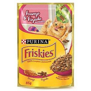 Sache Friskies adulto Frango & Figado ao molho 85g