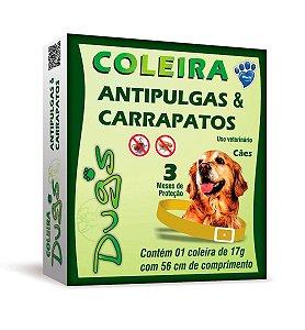 COLEIRA ANTIPULGAS E CARRAPATOS DUGS 56CM