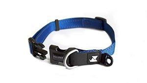 Coleira Pet ajuste Flexível Azul