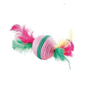 Bola com Plumas para Gatos cores sortidas