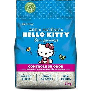 Areia Higiênica Biodegradável clássica azul Hello Kitty para Gatos  - 2kg