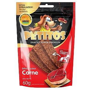Snack Petitos Para Cães Bifinho Sabor Carne