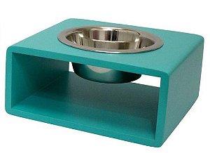 Comedouro Pet Moderno Verde Médio