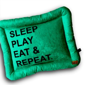 Colchonete Repeat Azul - Beds For Pets Tamanho M