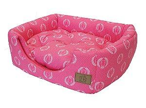 Cama Tunel Coroa Rosa Fabrica Pet Tamanho G