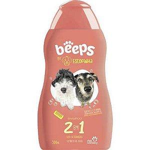Shampoo Pet Society Beeps Estopinha 2 em 1 Extrato de Aveia