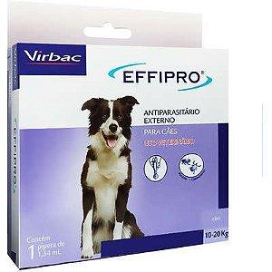 Antipulgas e Carrapatos Virbac Effipro 1,34 mL Cães de 10 até 20 Kg