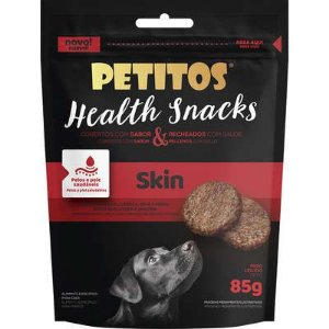Petisco Snacks Petitos Health Skin Sabor Carne para Cães