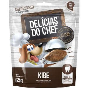 Petisco Petitos Delicias do Chef Sabor Kibe para Cães