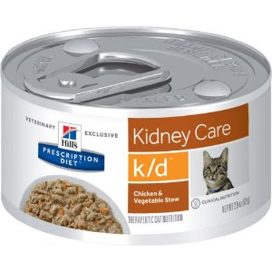 Ração Hill's Feline Prescription Diet K/D Renal Frango e Vegetais - Lata 82g