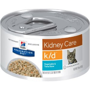 Ração Hill's Feline Prescription Diet K/D Renal Atum e Vegetais - Lata 82g
