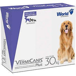 Vermífugo VermiCanis 2.4g para Cães de 30 Kg - 2 Comprimidos