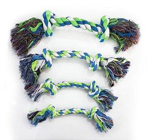 Brinquedo de Corda Villapet Dental Bone Nº5 Verde e Azul