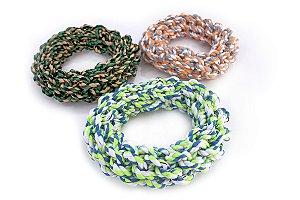 Brinquedo de Corda Villapet Dental Ring Verde e Azul