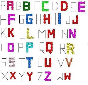 Letras e Números de Vergalhão de Aluminio