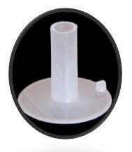 Suporte Base plástica para varetas, arames, canudos  com adesivo na base para fixar em mesas, cachepos