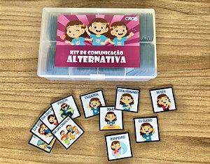Kit de Comunicação Alternativa - Menina com 500 peças!