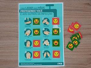 Placa Lavar as Mãos