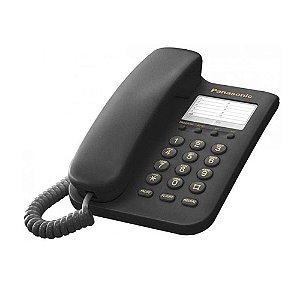 Telefone com fio Panasonic KX-TS9 Preto Panasonic