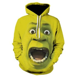 Blusa Moletom Canguru Full Filme Shrek Rosto Face