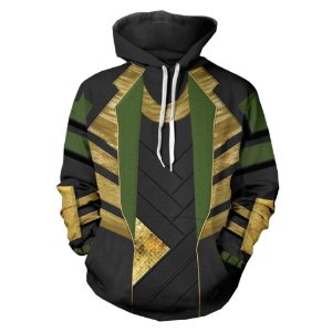 Blusa Moletom Canguru Full 3d LOKI Vingadores Filme Movie