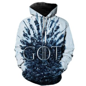 Blusa Moletom Canguru Full 3d Game of Thrones GoT