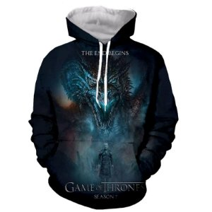 Blusa Moletom Canguru Full 3d Game of Thrones GoT Série