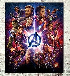Painel Quadro 1 Tela Vingadores Heróis Avengers Filme  60x40xm