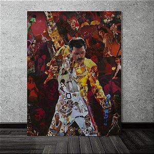 Painel Quadro 1 Tela Queen Banda Rock Música Freddie  60x40cm