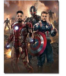Painel Quadro 1 Tela Vingadores Avengers Homem De Ferro 60x40cm