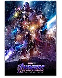 Painel Quadro 1 Tela Vingadores Avengers End Game Filme 60x40cm