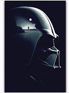 Painel Quadro 1 Tela Star Wars Darth Vader Filme Dad 60x40xm