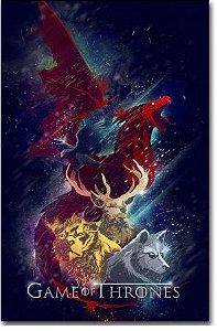 Painel Quadro 1 Tela Game Of Thrones Art 60x40xm