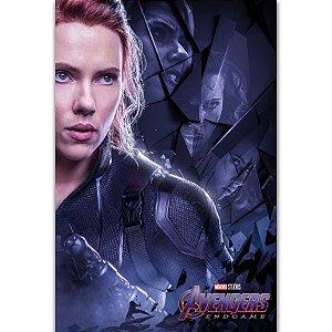 Painel Quadro 1 Tela Vingadores Avengers Filme Viúva Negra 60x40cm