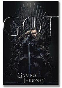 Painel Quadro 1 Tela Game of Thrones Série GoT Jon Snow 60x40cm